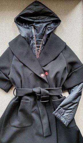 Emporio Armani Oversized Coat black-salmon