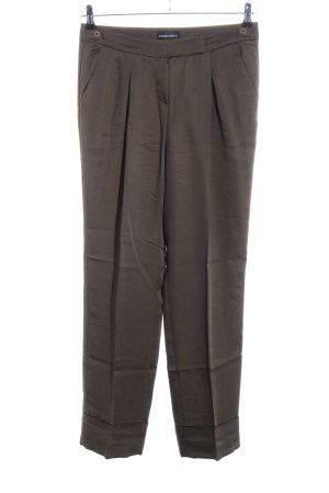 Emporio Armani Spodnie Marlena brązowy W stylu casual