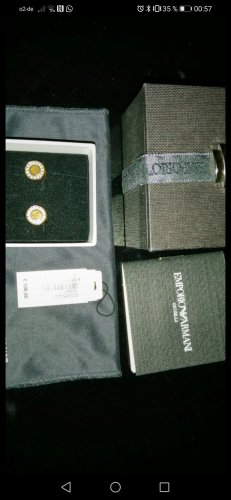 Emporio Armani Gold Earring gold-colored