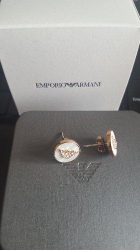 Emporio Armani Kolczyk ze sztyftem biały-w kolorze różowego złota