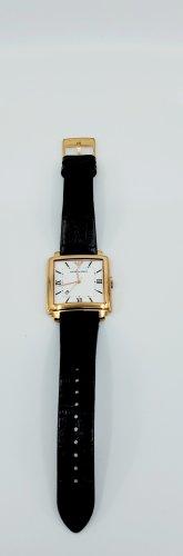 Emporio Armani Montre avec bracelet en cuir noir-bronze