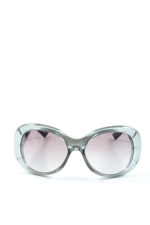 Emporio Armani ovale Sonnenbrille hellgrau Motivdruck Casual-Look