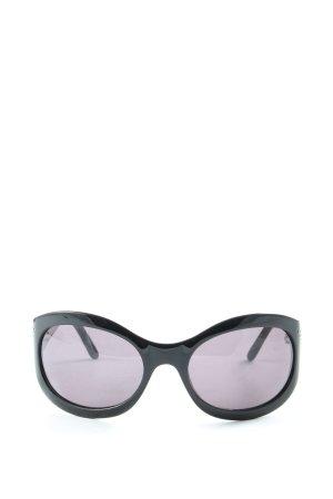 Emporio Armani Oval Sunglasses black casual look