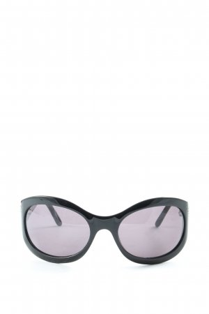 Emporio Armani ovale Sonnenbrille schwarz Casual-Look