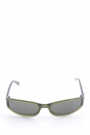 Emporio Armani Occhiale da sole ovale cachi stile casual