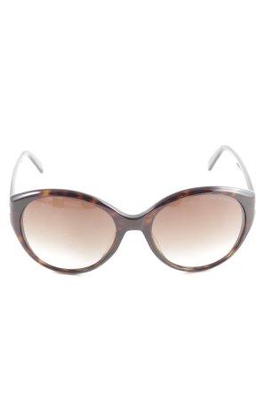 Emporio Armani Ovale zonnebril zwart-brons zakelijke stijl