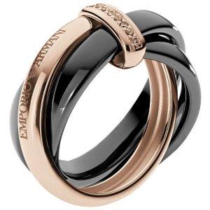 Emporio Armani Silver Ring black-rose-gold-coloured