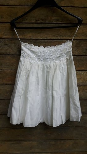 Emporio Armani Silk Skirt white-cream