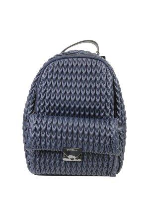 Emporio Armani Laptop rugzak blauw Leer
