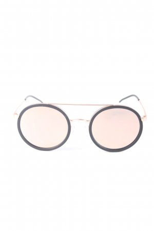 Emporio Armani runde Sonnenbrille pink-schwarz Casual-Look