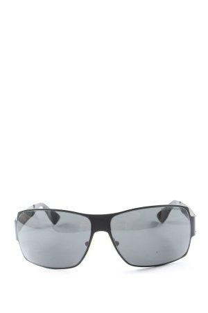 Emporio Armani Hoekige zonnebril zwart-lichtgrijs casual uitstraling