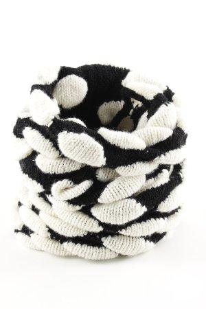 Emporio Armani Scaldacollo bianco-nero motivo a pallini stile casual