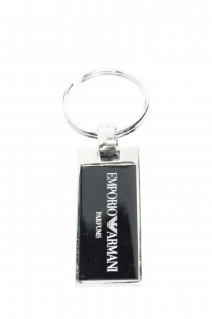 Emporio Armani Key Chain silver-colored-black printed lettering casual look
