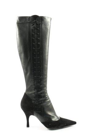 Emporio Armani Absatz Stiefel schwarz Casual-Look