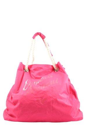 Emporio Armani Shopper pink casual look