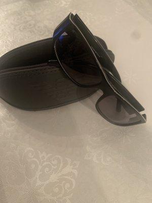 Emporio Armani Hoekige zonnebril zwart-wit