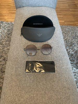 Emporio Armani Gafas de sol redondas marrón grisáceo