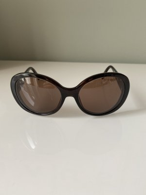 Emporio Armani Occhiale da sole rotondo marrone scuro