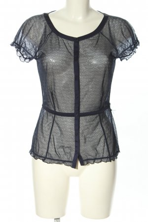 Emporio Armani Lace Blouse blue mixture fibre