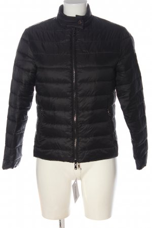 Emporio Armani Quilted Jacket black quilting pattern casual look