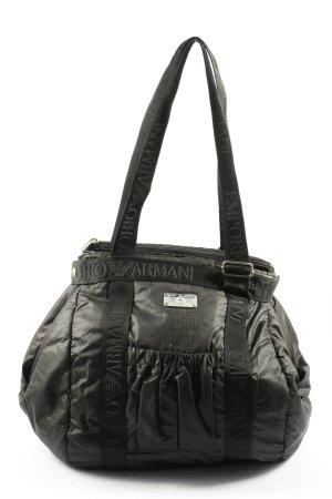 Emporio Armani Canvas Bag black themed print casual look