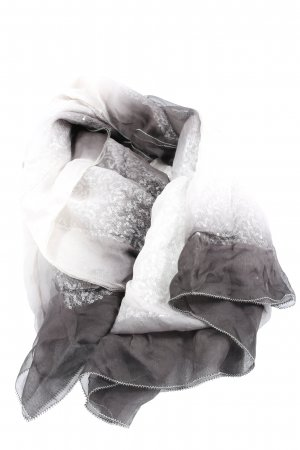 Emporio Armani Sommerschal hellgrau-weiß Casual-Look