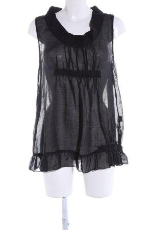 Emporio Armani Transparenz-Bluse schwarz Elegant