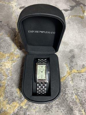 Emporio Armani Montre avec bracelet métallique argenté-crème