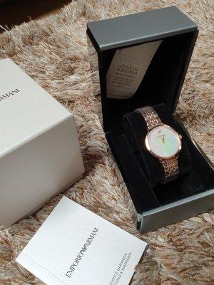 Emporio Armani Zegarek analogowy biały-w kolorze różowego złota