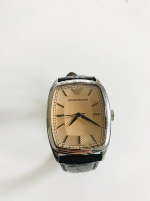 Emporio Armani Watch With Leather Strap multicolored mixture fibre