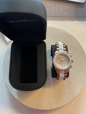 Emporio Armani Self-Winding Watch white-rose-gold-coloured