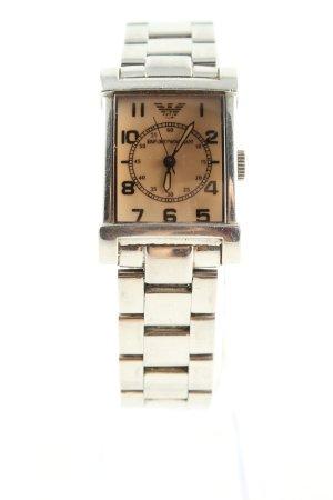 Emporio Armani Uhr mit Metallband silberfarben Casual-Look