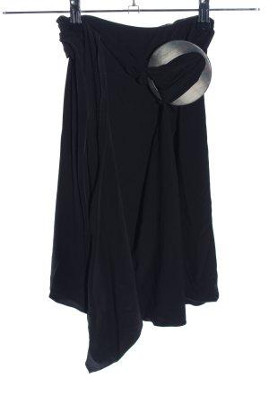 Emporio Armani Falda cruzada negro look casual