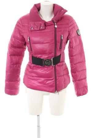 Emporio Armani Winterjacke pink-schwarz Steppmuster Casual-Look