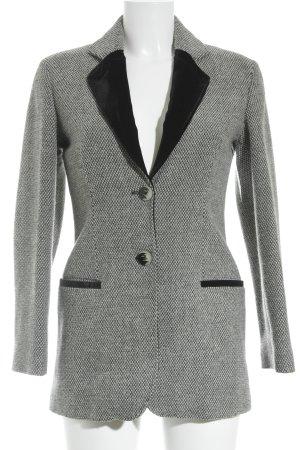 Emporio Armani Woll-Blazer wollweiß-schwarz Ringelmuster Business-Look