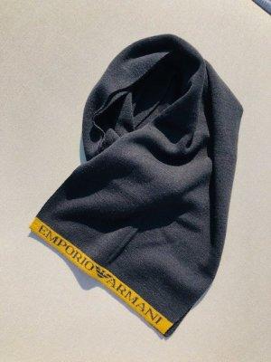 Emporio Armani Bufanda de lana negro-naranja dorado Lana