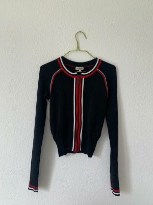 Armani Collezioni Korte blazer zwart-rood