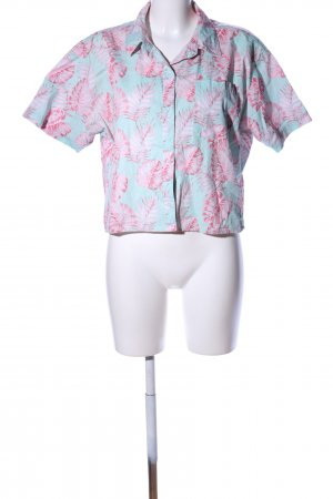 EMPYRE Hawaiian Shirt turquoise-pink animal pattern casual look