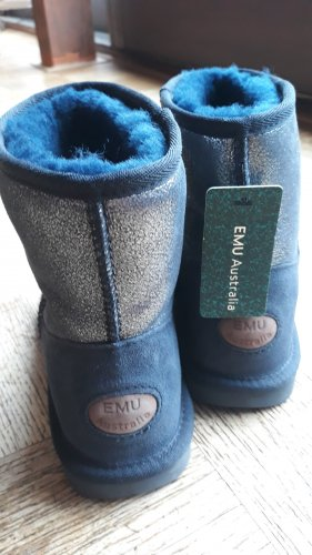 EMU Australia Bottes fourrées bleu mohair