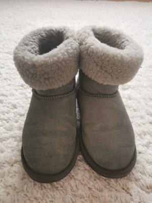 Emu Boots grau Gefüttert echt Schaffell