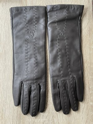 EMU Australia Leather Gloves taupe-grey brown leather