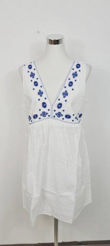 En Creme/ Minikleid/ Weiß Blau/ Größe L/ Zustand: neu mit Etikett