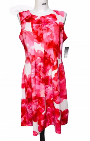 En Focus Damen Kleid Rot Weiß XL