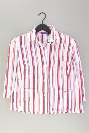 encadée gestreifte Bluse Größe 42 3/4 Ärmel Vintage weiß