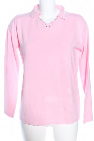 V-Ausschnitt-Pullover pink Casual-Look