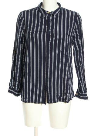 Encuentro Langarm-Bluse blau-weiß Streifenmuster Casual-Look