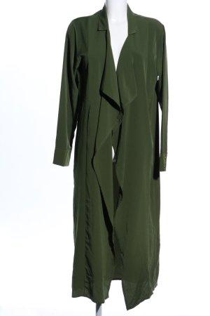 Veste chemisier vert style décontracté