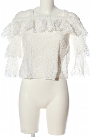 endless rose Ruffled Blouse white casual look