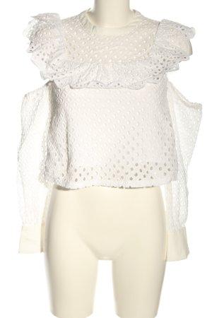 endless rose Lace Blouse white extravagant style