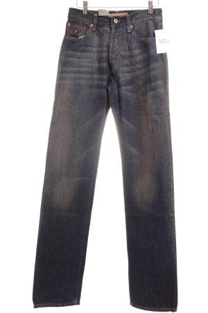 Energie Straight-Leg Jeans dunkelblau meliert Used-Optik